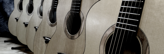 Six Guitars Completed for The Acoustic Guitar Project 2014
